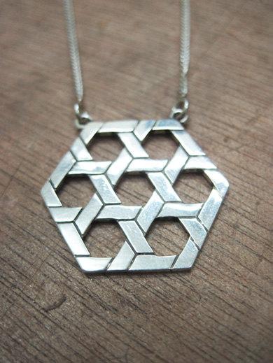 7 Stars Of David - Geometric Big Pendant - Chunky Bold Silver Magen David Pendant For Him Or Her - Dad - Boyfriend - Man Necklace - Jewish