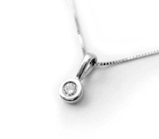 Delicate Diamond Necklace, Diamond Necklace