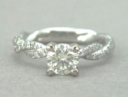 Diamond Engagement Infinity Ring - Infinity Diamond Engagement Ring - Infinity Knot Engagement Ring