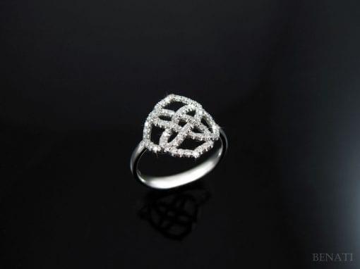 Diamond Infinity Ring, Diamond Engagement Ring
