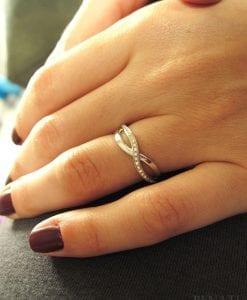 Diamond Infinity Ring, Infinity Ring With Diamonds