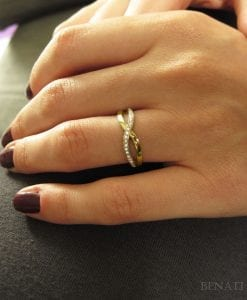 Diamond Knot Ring, Infinity Knot Ring