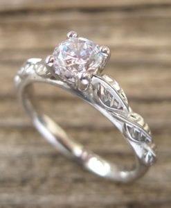 Forever Brilliant Moissanite Engagement Ring, Moissanite Ring