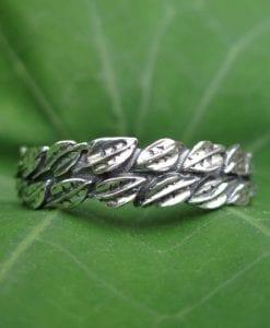 Gold Leaf Wedding Ring, Leaf Ring