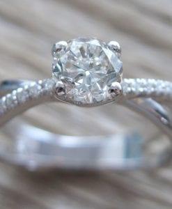 Infinity Engagement  Ring, Diamond Infinity Engagement Ring
