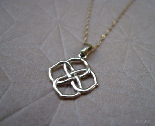 Infinity Knot Pendant - 14k Solid yellow gold, New designer gold pendant - Gold infinity pendant