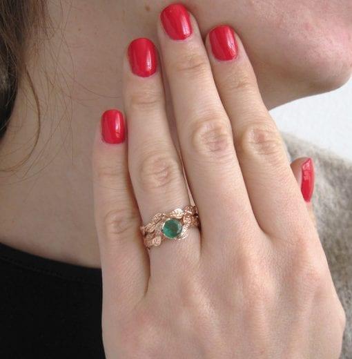 Leaves Engagement Set, bridal set