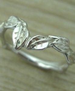 Leaves wedding band, Leaf wedding band