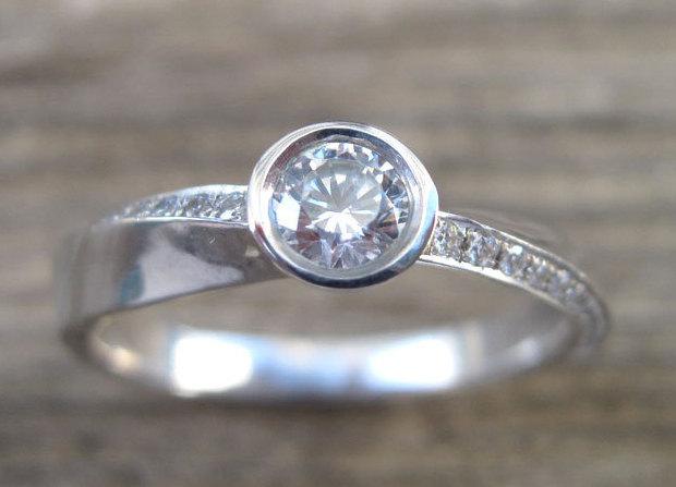 Mobius Engagement Ring, Mobius Diamond Engagement Ring