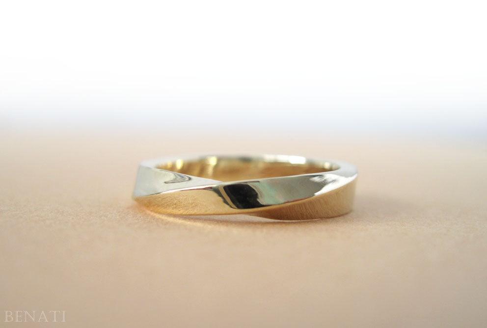 Mobius Wedding Ring, 4mm Mobius Wedding Band