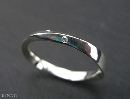 Mobius Wedding Ring, Diamond mobius Wedding Band