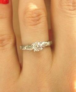 Moissanite Engagement Ring, Moissanite Ring