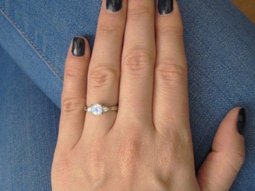 Moonstone Antique Engagement Ring, Antique Moonstone Ring