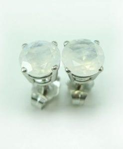 Moonstone Stud Earrings, Moonstone Earrings