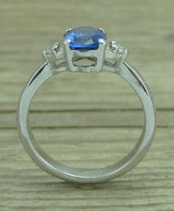 Oval Sapphire Antique Engagement Ring, Antique Gold Ring