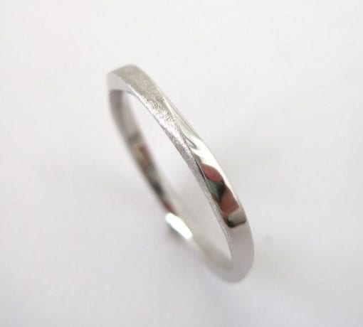 Platinum 950 Wedding Band, 2mm Mobius wedding band