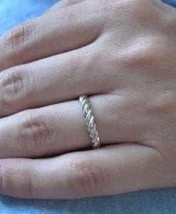 Rope Wedding Ring, Twisted Rope Wedding Ring