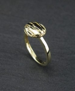 SALE - Gold Oval Modern Ring, Bold Oval Designer Yellow Gold Ring