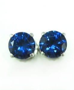 Sapphire Stud Earrings, Sapphire Earrings