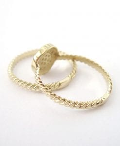 Set Wedding Rings, ring with Twist