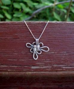 Silver Lucky Neckalce , Infinity Love Knot