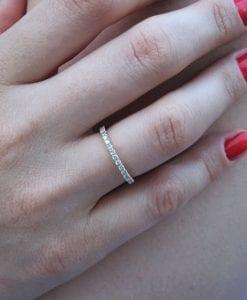 Stackable Diamond Eternity Band, Diamond Eternity Ring