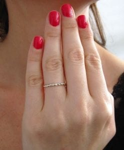 Twisted Gold Rope Wedding Band, Twisted Rope Wedding Ring