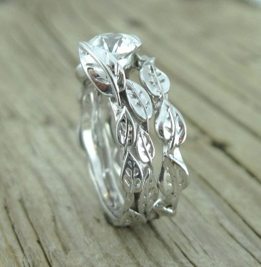 Wedding Set, Unique Engagement Ring
