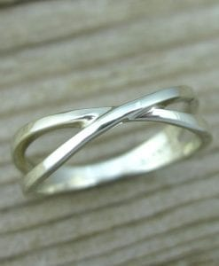 White gold infinity Promise ring, Infinity wedding ring