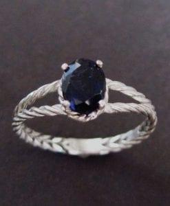 Braided Rope Ring, Iolite Ring