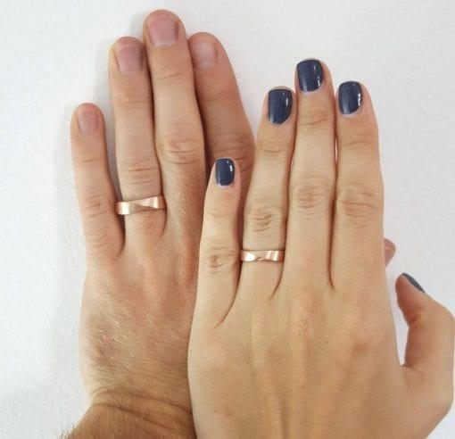 Matching wedding bands, wedding ring set
