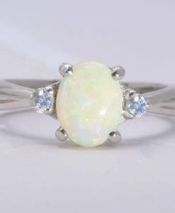 Opal Ring, Vintage Antique Opal Engagement Ring