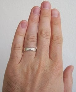 Solid Gold Mobius Wedding band