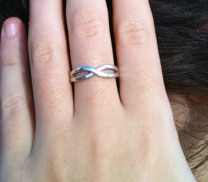 Sterling Silver Friendship Ring, Infinity Knot Promise Ring