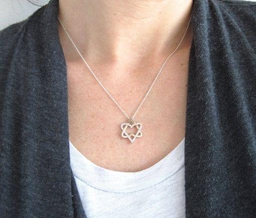 White Gold Magen David, Star of David necklace