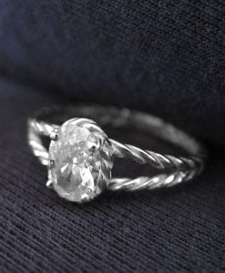 Moissanite Engagement Ring With Rope Band
