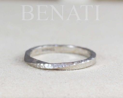 hammered mobius ring, mobius wedding band, womens wedding band, mens wedding band 2.5 mm wide