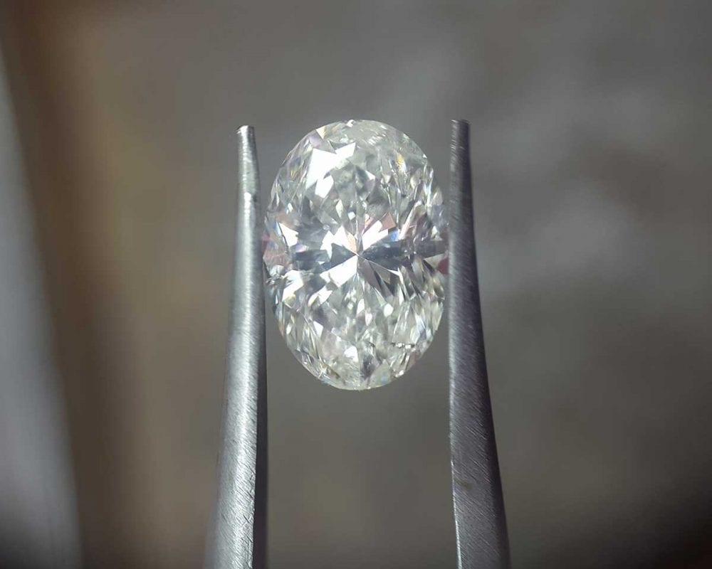 oval lab grown diamond