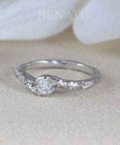 Engagement ring with diamond budget ring