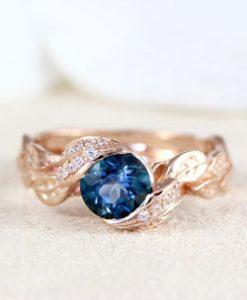 Leaf Engagement Rings